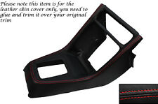 RED STITCH CENTRE CONSOLE GEAR SURROUND LEATHER COVER FITS HONDA CRX 89-92