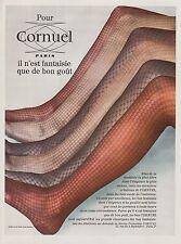 PUBLICITE  CORNUEL BAS - COLLANT  LINGERIE    AD 1968  * 3G