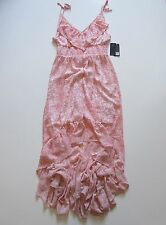 NWT GUESS Chameleon Camo Camouflage in Awesome Pink High Low Maxi Dress L