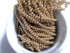 630pcs 4mm GLASS PEARL Faux Imitation Beads - SAND GOLD ( 3 strands )
