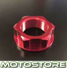 RED ALLOY CNC STEERING STEM YOKE NUT FITS SUZUKI GSX750F KATANA 1998-2002