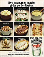 PUBLICITE ADVERTISING 055  1973   REGILAIT   lait pour la purée