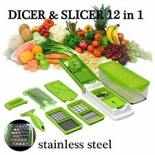12pcs Super Slicer Plus Vegetable Fruit Peeler Dicer Cutter Chopper Nicer Grater
