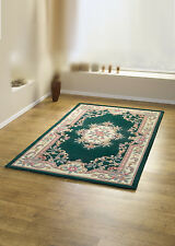 Wool Oriental Traditional Flower Design Small Large Circle Rug, in Various Sizes