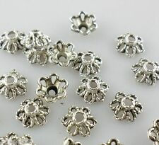 100pcs Ancient silver Spacer Bead Caps 6mm