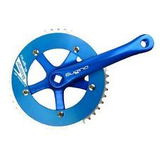 Sugino RD2 Messenger Bicycle Crankset Blue 165 X 46T Japan Fixie Track Crank BMX