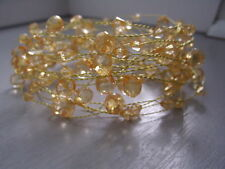5 METRE CHAMPAGNE ACRYLIC CRYSTAL GARLAND ON A GOLD WIRE/WEDDING CHRISTMAS DECOR