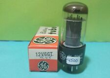 """1 GE 12V6 GT  """"O"""" Getter  Vacuum Tube Tested New On Calibrated Hickok"""