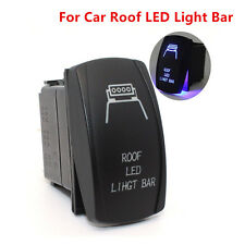 Car Off-road SUV Rocker Switch Blue Backlit Car Roof LED Light Bar 5 Pins On-Off