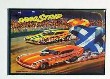 "DRAGSTRIP Metal LUNCHBOX   2"" x 3"" Fridge MAGNET ART  Side B"