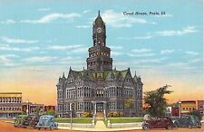 Illinois postcard Paris Court House
