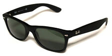 RAY BAN 2132 52 NEW WAYFARER 622 BLACK RUBBER SUNGLASSES OCCHIALE SOLE NERO