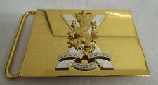 ROYAL REGIMENT OF SCOTLAND METAL COURLENE BELT PLATE BUCKLE - British Army