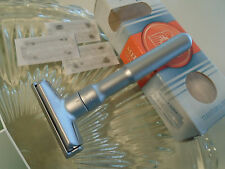 Dovo Merkur Solingen Adjustable Long Double Edge Safety Razor Shaver 3 Blades