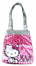Sanrio Hello Kitty Pink Faux Sequins Jacquard Die Cut White Head Shoulder Bag NW
