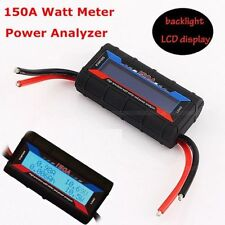 New Backlight LCD RC Solar Power Analyzer 60V 150A DC Watt Meter Voltage Digital
