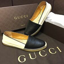 NEW Gucci Black And White Espadrilles Shoes Womens Size 10.5