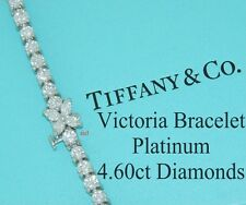 TIFFANY & CO VICTORIA PLATINUM DIAMOND LINE BRACELET ~ 4.60tcw ~ 7 INCHES LENGTH