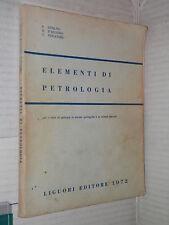 ELEMENTI DI PETROLOGIA F Ippolito B D Argenio T Pescatore Liguori 1972 libro di