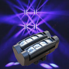 NEW LED Spider Moving Head Light 80W Iron RGBW Beam DMX Stage Disco DJ Light US!