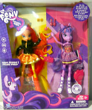 LOT 2 MY LITTLE PONY dolls SUNSET SHIMMER & TWILIGHT SPARKLE  Equestria Girls