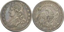 50 Cent 1/2 Dollar 1834 USA Liberty Adler Silber #Y101