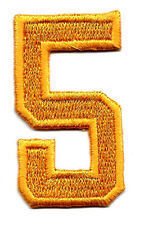 "NUMBERS-Golden Yellow  Number ""5"" (1 7/8"")- Iron On Embroidered Applique/Numbers"