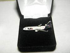 COLLECTABLE FEDEX MD11 AIRPLANE LAPEL TAC PIN PILOT / EMPLOYEE CHRISTMAS GIFT