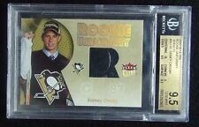 2005-06 SIDNEY CROSBY FLEER ULTRA ROOKIE UNIFORMITY JERSEY BGS 9 5 RC POP 30