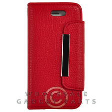 Apple iPhone 5S/SE Wallet Pouch Red Cover Shell Protector Guard Shield Case