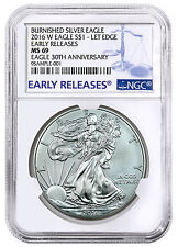 2016-W Burnished American Silver Eagle NGC MS69 Early Releases SKU44301