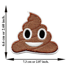 Smile Poo Poop Unchi Cartoon Cute Kids Brown Funny Applique Iron on Patch Sew