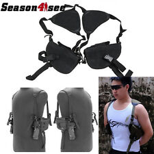 Tactical Left Right Hand Gun Pistol Holster Bag Double Shoulder For Hunting