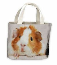 Guinea Pig Face Tote Shopping Bag For Life - Cute Pet Pigs