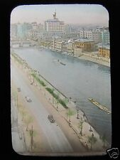GLASS MAGIC LANTERN SLIDE NAKANOSHIMA - OSAKA CIVIL CENTRE C1920 JAPAN JAPANESE