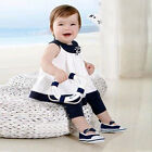 Baby Kids Girls Flowers Shirts Tops+Pants 2 PCS Set Outfits 0-3Y Casual Clothes
