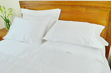 Double Bed Fitted Sheet 500TC/10cm2 Pure Cotton White Loose Package