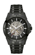 Bulova Automatic Collection Black Skeleton Dial Analog Men's Watch 98A147