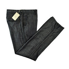 New BRIONI Sunset Handmade Cashmere Cotton Black Denim Jeans 36 NWT $695!