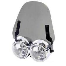 Motorcycle Screen Fit Dominator Headlight Light Smoked Fly Screen