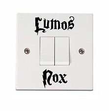 HARRY POTTER STICKER / DECAL LUMOS,NOX {2 PACK} LIGHT SWITCH FUNNY HOME STICKER