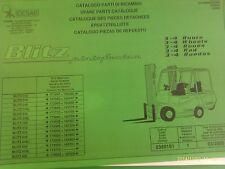 Ersatzteilbuch Cesab Blitz Gabelstapler 312-420 ab Bj 03/2000 incl. Wartungsbuch