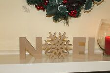 """Noel"" Letters Christmas decoration freestanding wooden letters sign"