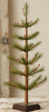 """New Primitive Country Christmas Red Berry Pine Feather Style Tree 22"""""""