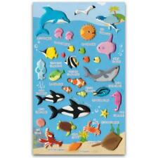 CUTE SEA LIFE STICKERS Ocean Animals Fish Craft Scrapbook Raised Sticker Sheet