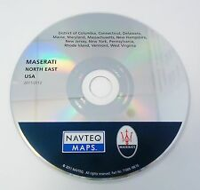MASERATI NAVTEQ MAPS NORTH EAST USA NAVIGATION MAP UPDATE CD-ROM DISC 2011/2012
