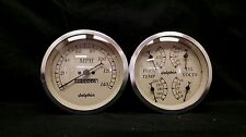 "5 "" Quad White Mech Street Rod Gauge Set STREET ROD HOT ROD, UNIVERSAL"