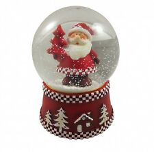 Gisela Graham Father Christmas Snowglobe - Cute Snow dome - Musical decoration