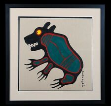Original Painting NORVAL MORRISSEAU EARLY WORK Canadian Artist Aboriginal Art