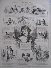 Publicité 1875 PELE MELE de dessins L'eau suprême ( maison Tortoni )